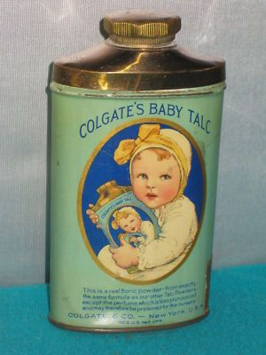 antique Colgate's Baby Talc tin: Colgate S Baby, Antiques Colgate, Vintage, Tins, Advertising Talcum, Powder, Baby Talc 1930, Colgate Baby, Antique Colgate S