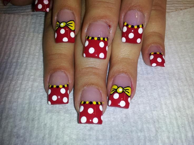 Leah's Disneyland nails I did!
