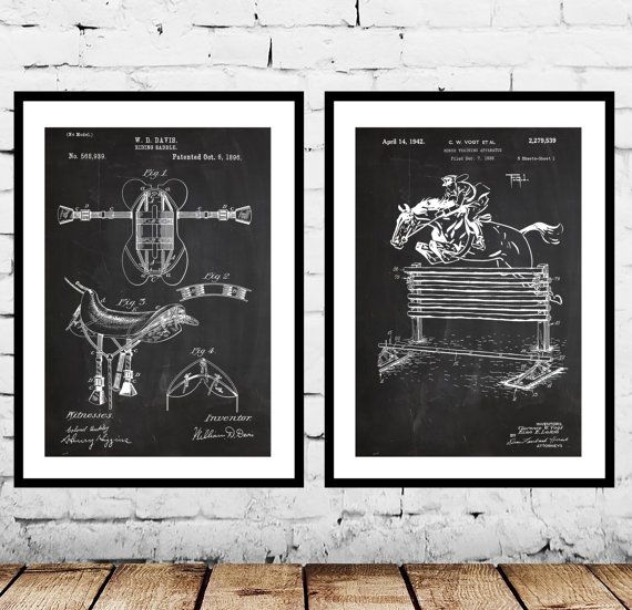 Equestrian Inventions, Equestrian Patent, Equestrian Art, Equestrian Wall Art, Horse Saddle Patent, Horse Jump Patent, Equestrian Decor by STANLEYprintHOUSE  13.98 USD  We use only top quality archival inks and heavyweight matte fine art papers and high end printers to produce a stunning quality print that's made to last.  Any of these posters will make a great affordable gift, or tie any room together.  You will receive 2 prints in this order. Ple ..  https://www.etsy.com/ca/listi..