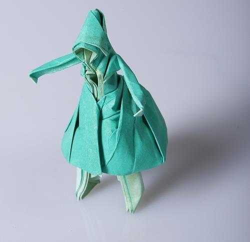 Как оформить платье оригами