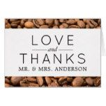 Thank You - Roasted Arabica Coffee Beans - Brown Card