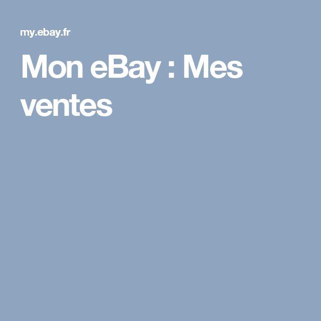 MoneBay: Mes ventes