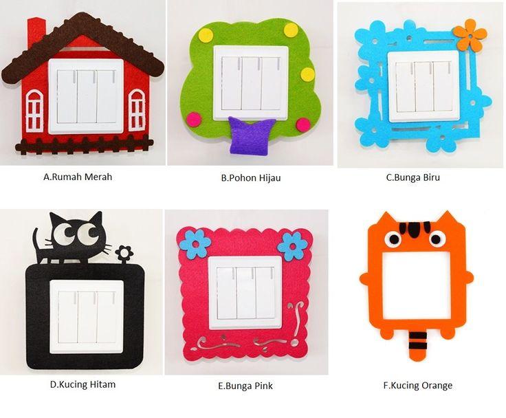 Frame Saklar Lampu / Wall Stiker Lucu Kerajinan buatan