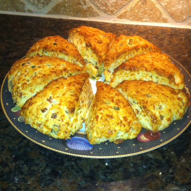 King Author Flour.com Bacon Cheddar Cheese and Chives Scone.  Very Savory.