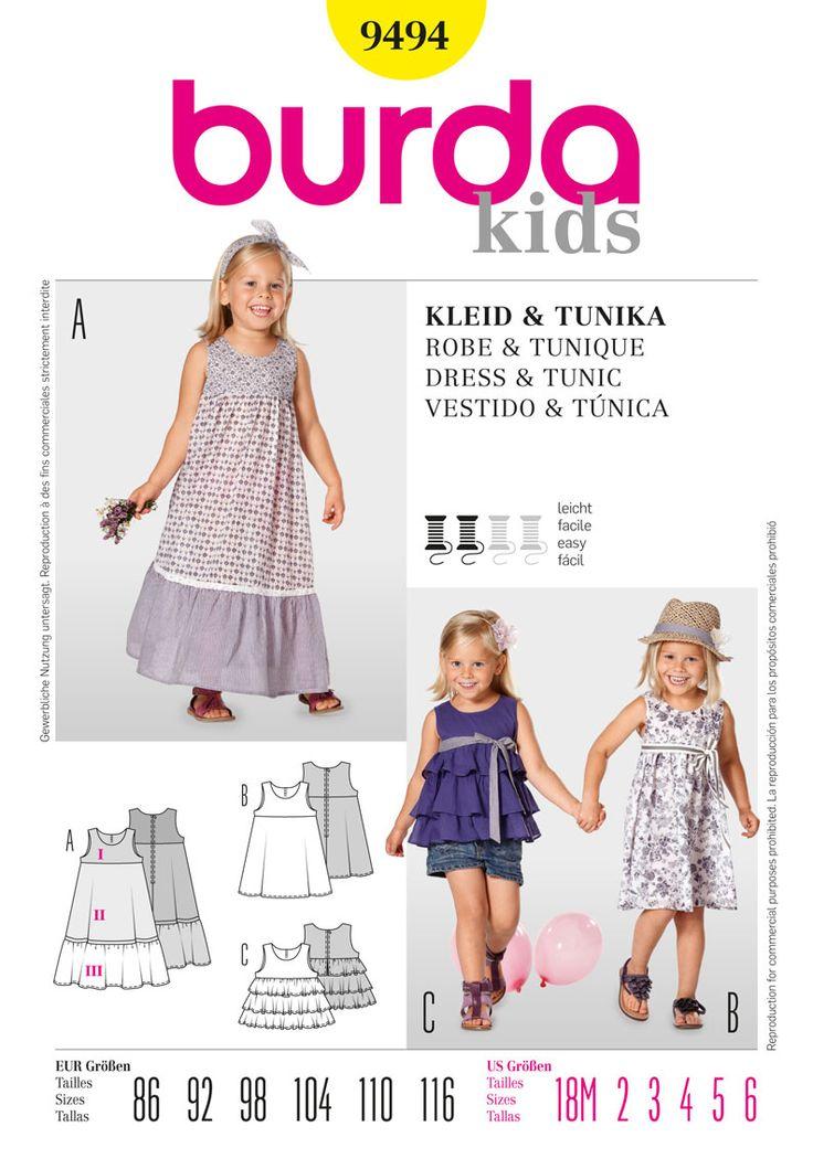Best 15 Favorite Burda Kids Patterns for Little Girls ideas on ...