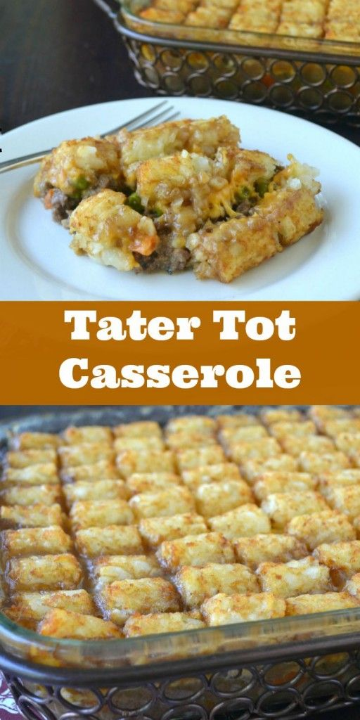 Sunflower Supper Club | Classic Tater Tot Casserole with No Canned Soup | https://sunflowersupperclub.com