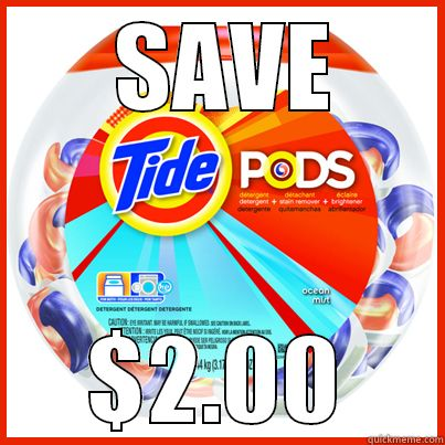 Print your $2.00 Tide Pods coupon at bSaving.com now! http://www.bsaving.com/Printable?cid=18054121&utm_source=pinterest+page&utm_medium=social&utm_campaign=tide+pods+coupon #TidePods #laundry