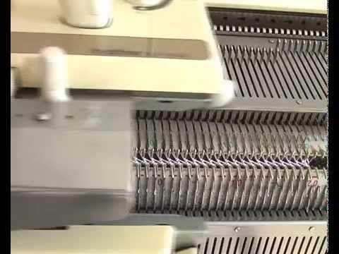 Машинное вязание, узор со сдвигом. - YouTube
