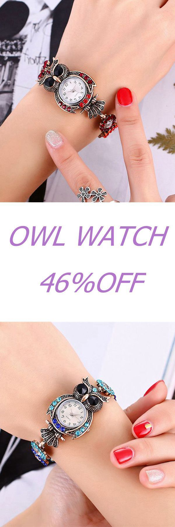 Vintage Watch Crystal Owl Bracelet Digital Watches Fashion Gift Watches for Women is hot-sale, waterproof watches, bracelet watch, and more other cheap women watches are provided on NewChic.