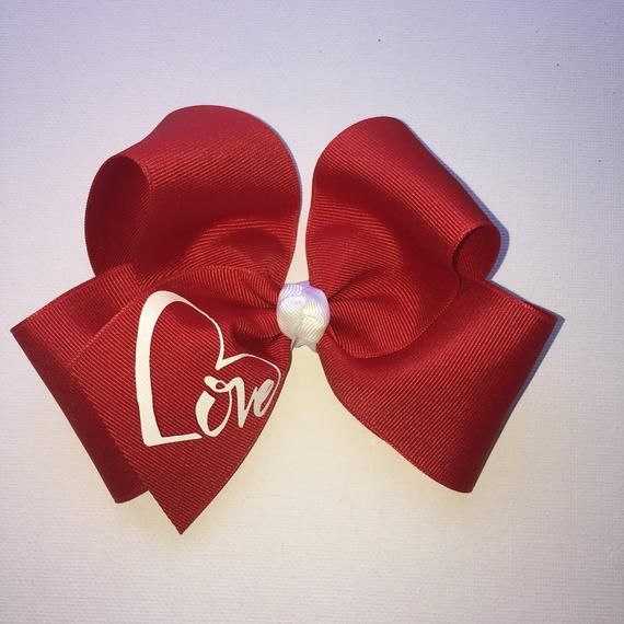 Girls Women Navy Red Bow Ribbon Polka dots School color Hair head clip barrette