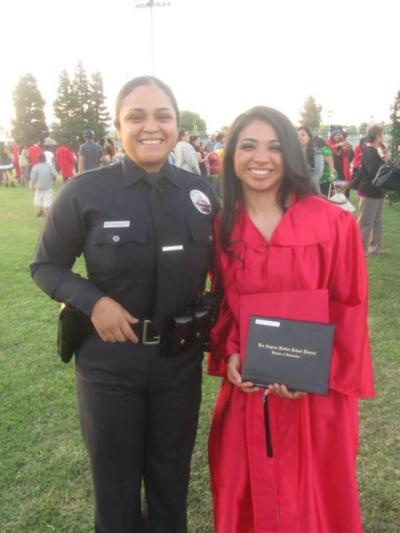 LAUSD is proud of Rosemary Hernandez!  She graduated from Monroe High School in North Hills, where she commuted to from South Central Los Angeles.  After getting accepted into LAUSD's police high school magnet program, she chose Monroe where she felt immediately welcomed and became the MVP for both the softball and wrestling teams!  Rosie, as her friends call her, will head to Cal Poly Pomona in the fall.  She'll volunteer at the local LAPD station while attending her college classes.