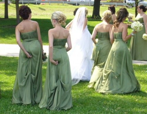 Bridesmaids with wedgies!