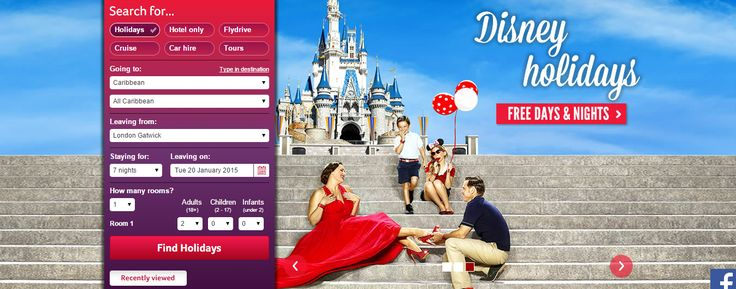 Offer Banner with search from Virgin Holidays #Web #Banner #Digital #Online #Marketing #Travel #Offer #Search