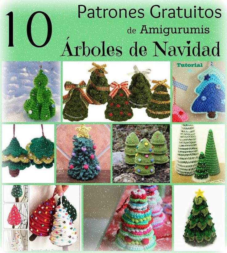 patron patrones gratis amigurumi rbol de navidad rboles xmas christmas tree free pattern holiday crochet ganchillo