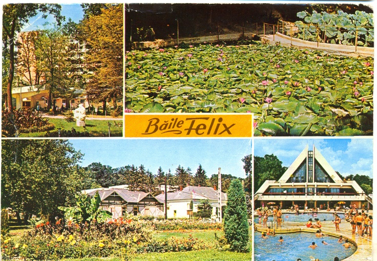 postcard, Băile Felix in the 1970s