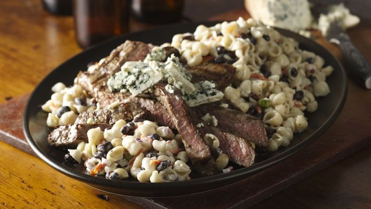 Suddenly Salad makes this easy, flavorful blue cheese and black pepper steak salad a winner.