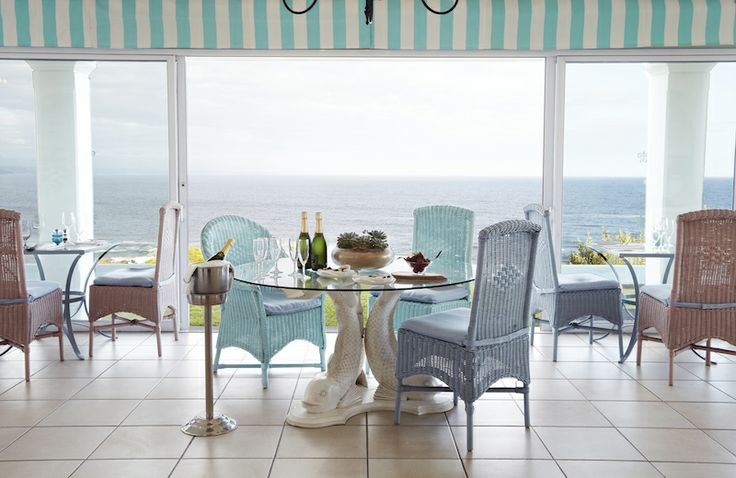 Isn't this just the perfect breakfast spot? Looking out over Plettenberg Bay and the ocean...