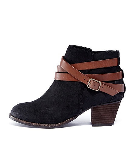 Dolce Vita Java Ankle Boot - mixed neutrals, buckle, model-off-duty vibe.