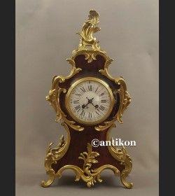 Zegar kominkowy Boulle Francja 1878 r. obiekt muzealny