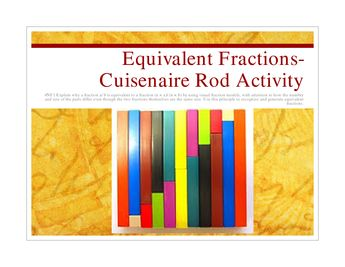 Here's a very nice lesson on using finding equivalent fractions.