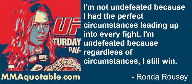 Ronda Rousey sayings