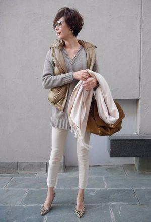 田丸麻紀☆冬の私服ファッションコーデ