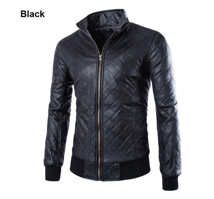 2015 New Fashion Slim Fit PU Leather Jacket Men Collar Solid Slim Men Leather Jacket Top Quality Motorcycle Men Outwear
