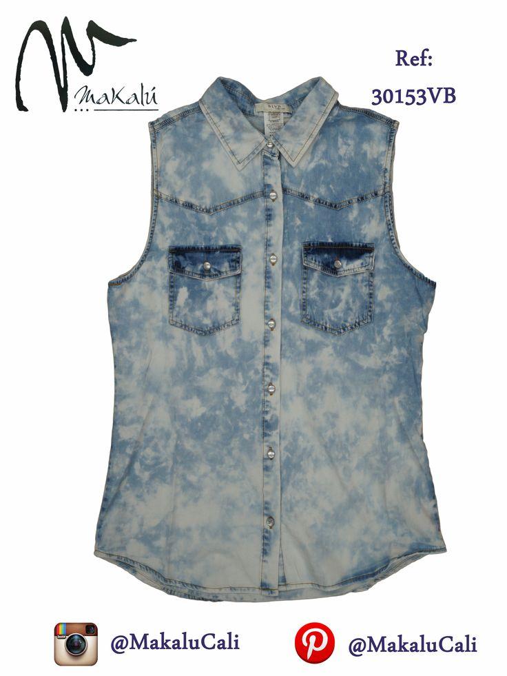 BLusa manga siza en jean Moda Femenina - Tiendas Makalu #modafemenina #makalu #makalucali #tendencias #vacaciones #makalutesoro #makaluBahia #cali #colombia