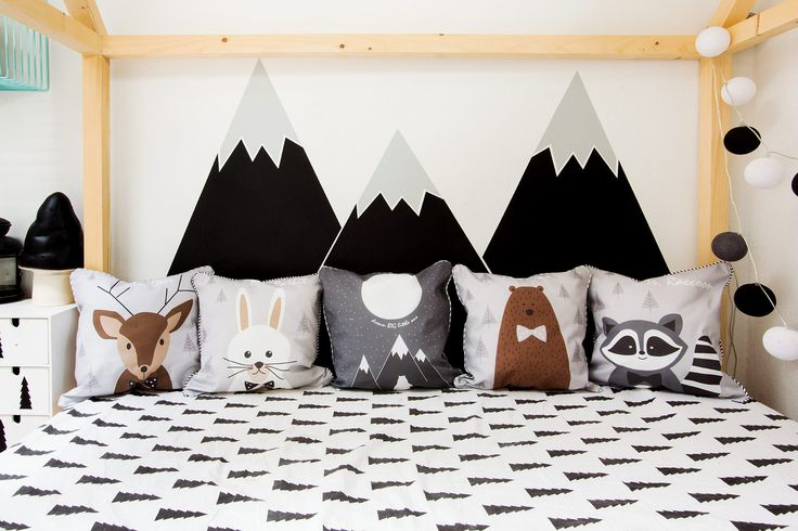 BEHIND THE BED BLACK MOUNTAINS in wild one's room :)