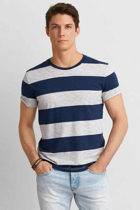 American Eagle Outfitters AEO Stripe Crew T-Shirt