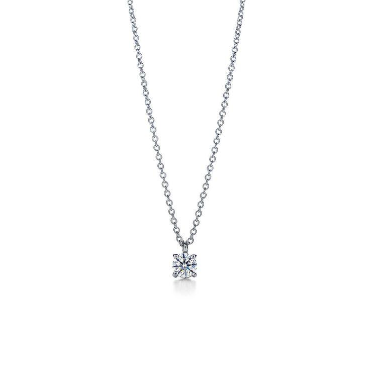 Pendentif Diamant solitaire Tiffany