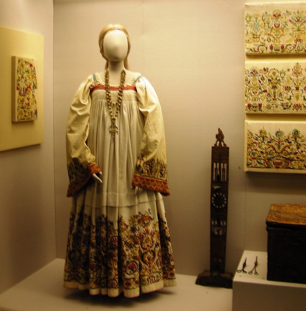 Folk costumes at the Benaki Museum, Athens, Greece