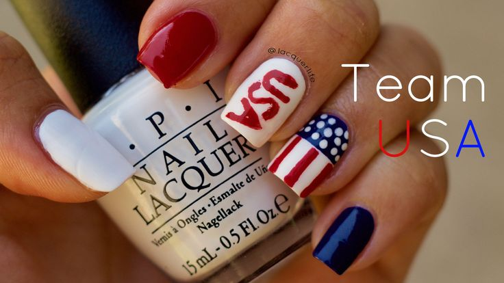 I love the olympics so why not show my support by doing a team USA nail look!