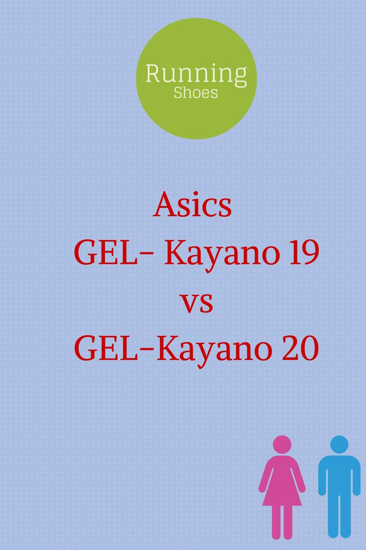 Asics GEL-Kayano 19 vs GEL-Kayano 20. A comparison chart of product features between the two shoes.