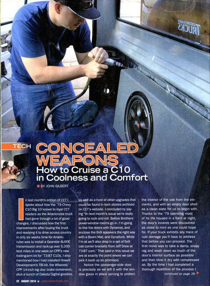 73-87 Cab Corner 6x9 Speaker Brackets | 87 chevy truck ...