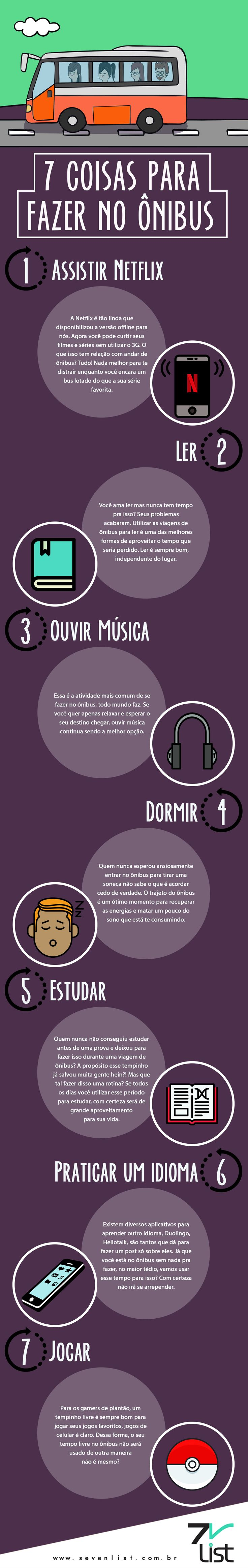 7 coisas para fazer no ônibus