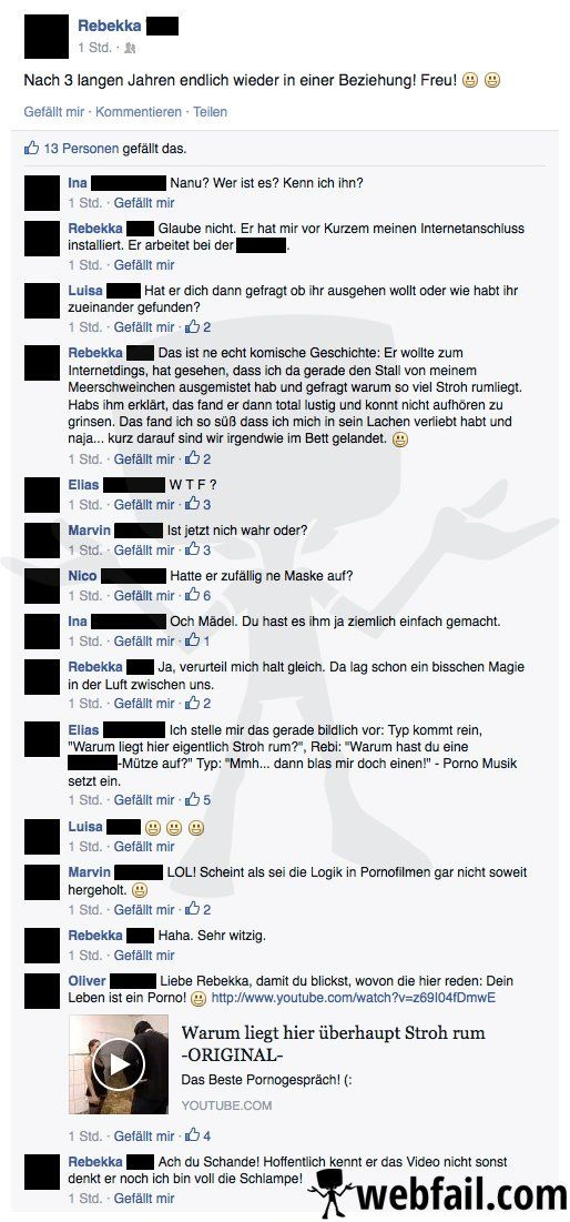 Ein Leben wie im Pornofilm - Facebook Fail des Tages 08.10.2014 | Webfail - Fail Bilder und Fail Videos
