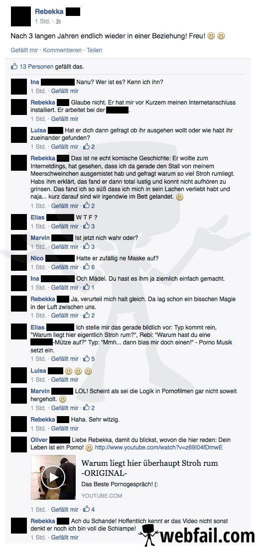 Ein Leben wie im Pornofilm - Facebook Fail des Tages 08.10.2014   Webfail - Fail Bilder und Fail Videos