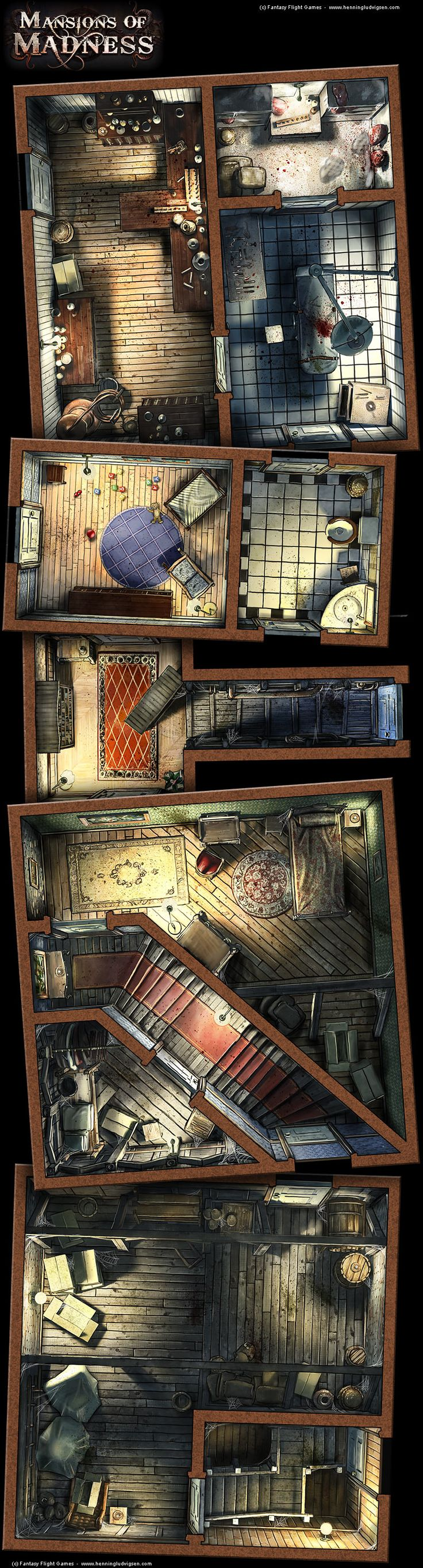 Mansions of Madness, details 2 by *henning on deviantART