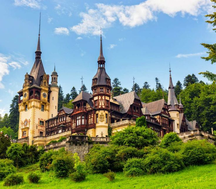 Peleş Palace (Romania) - Peles castle is actually a palace. A palace with 30 bathrooms and 4,000 pieces of armoury. Together with 2,000 pieces of art and the garden it is a must see. More unique travel inspiration in Europe can be found on a map on www.broscene.com !