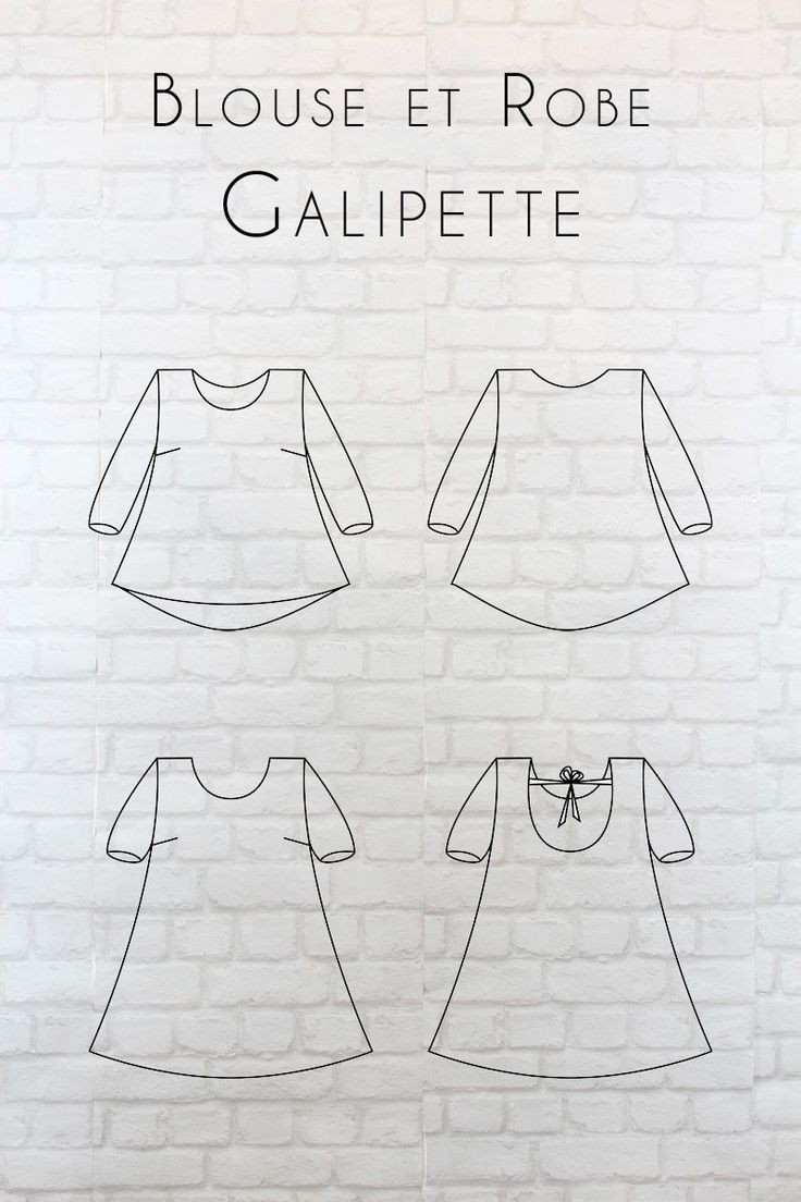 Galipette dress by Eglantine et Zoé. T.34-46