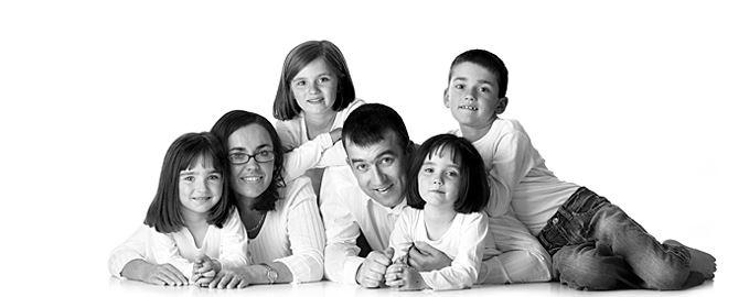 happy small family