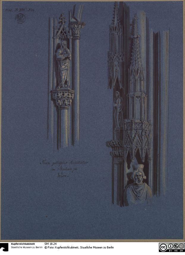 Details der skulpturalen Ausstattung von Sankt Stephan in Wien - Das Erbe Schinkels - Der Onlinekatalog - SM 18.24