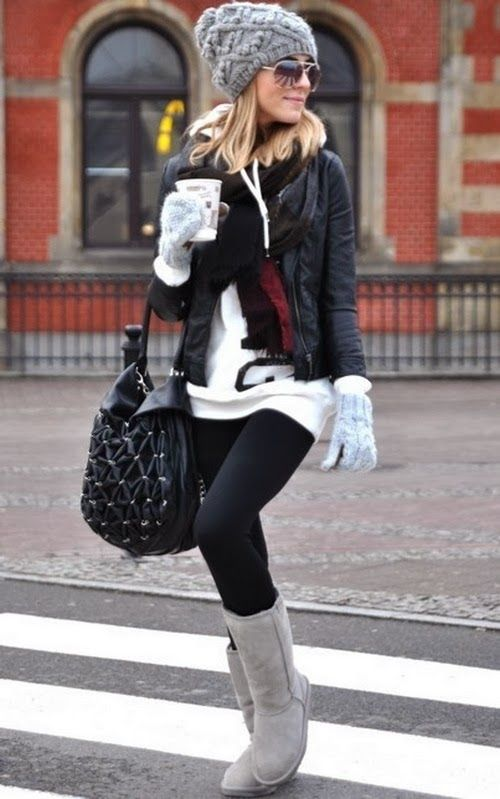 gray ugg boots outfit