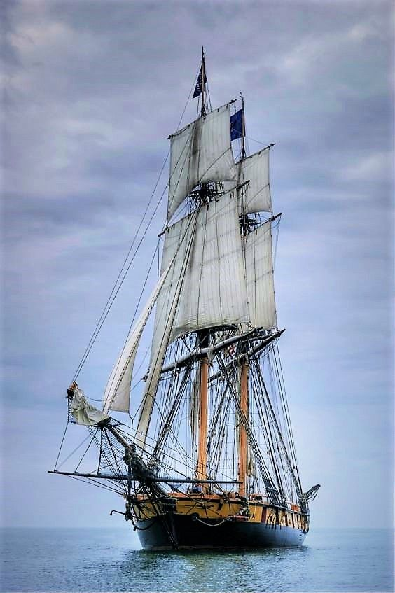 A Brig might be better suited than a Schooner.