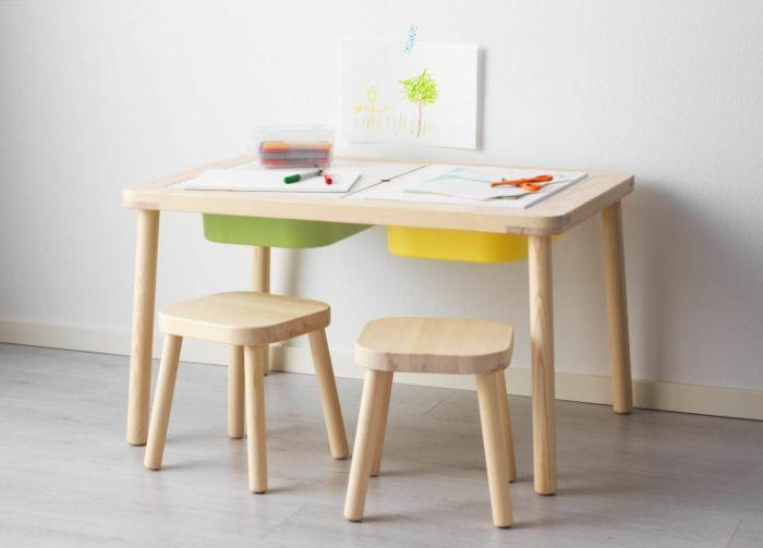 Ikea Kinderzimmer Schlichte Ergonomische Holzmobel Fur Ihre Kleinen Mit Bildern Kindertisch Ikea