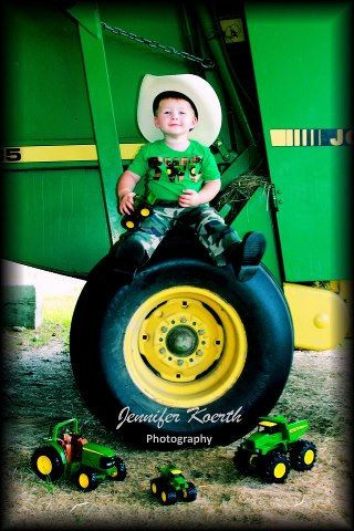 Tractor Shirt tractor farm party brown green yellow boys customized birthday shirt