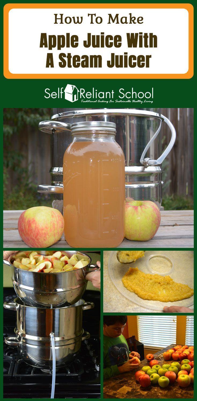 We make homemade apple juice in the Victorio Steam Juicer. #beselfreliant via @sreliantschool