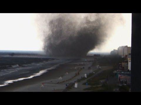 Waterspout/EF-2 tornado, Myrtle Beach, South Carolina ...