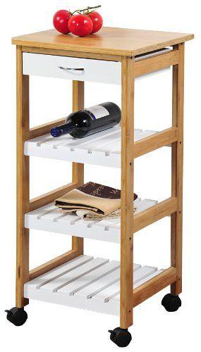 Kesper 25581 Küchenwagen, Bambus, Maße - 37 x 37 cm, Höhe - 80.5 cm